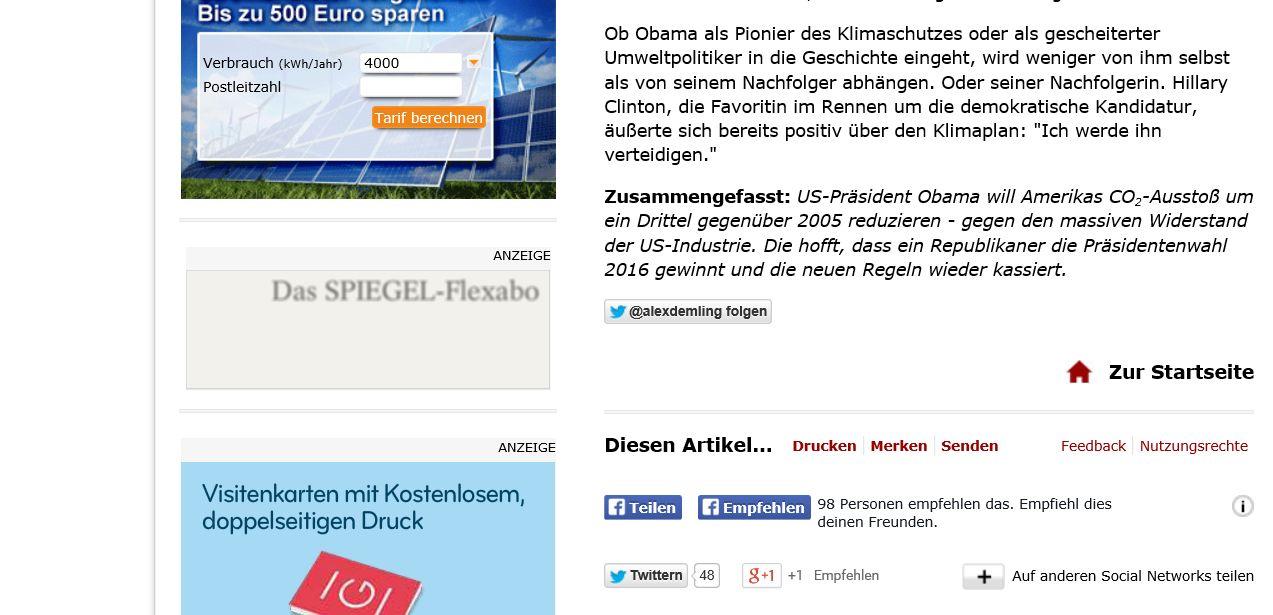 Spiegel Online und zahlreiche andere (Online-) Medien bieten eine Summary am Ende längerer Berichte.